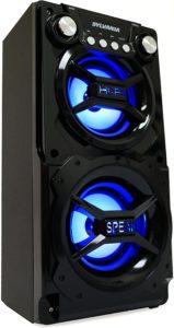 sylvania sp328 black portable bluetooth speaker