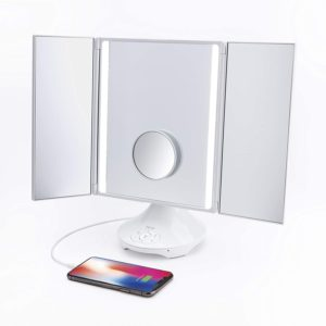 iHome Beauty REFLECT TRIFOLD Vanity Speaker with Bluetooth Audio